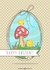 Easter illustration nature design