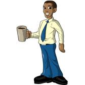 MAN WITH COFFEE VECTOR.eps