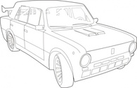 Car Lada Outline