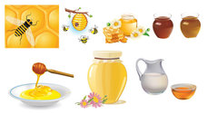 Gather Honey Bees Vector Of Material Gather
