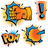 Vector Comic Style Icon Material-2