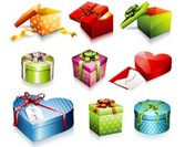 Ilustraciones en stock regalo Box Set Vector