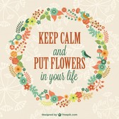Keep calm floral template