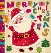 Christmas cartoon stickers background 03
