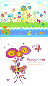 Lovely Flowers Colorful Theme