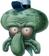scary squidward PSD