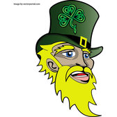 IRISH SAINT PATRICK FACE VECTOR.eps