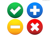 Web buttons - accept, add, exclude, delete