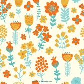 Free seamless flowers pattern