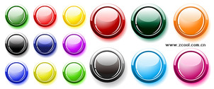 Many Button Colors Crystal Round