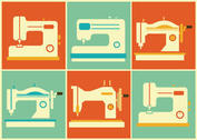 Vintage Sewing Machine Vectors