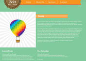 Green and Orange Web Page Vector Template