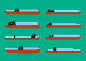 Container Ship Vector Set