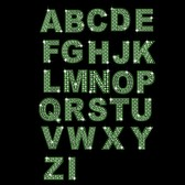 Diamond Letters And Numbers Vector Green