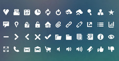White olive PSD icons