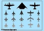 Military Airplanes Set