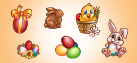 Ostern Grafik PSD-Set 1