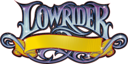 Lowrider font banner PSD