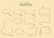 Hand Drawn Speech Bubble Vectors