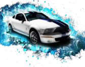 Mustang splash PSD
