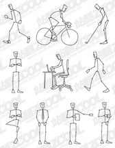 A simple line drawing of the human action figure vector mate