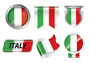 Italian Flag Badge Vectors