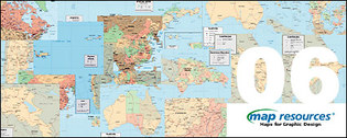 map resources or regional countries of the world vector map