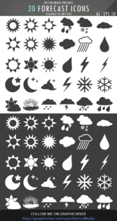 30 Weather Forecast Icons Free