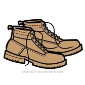 PAIR OF BOOTS VECTOR IMAGE.eps