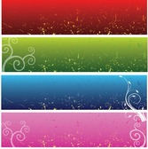 4 Free Vector Floral Background Banners