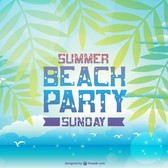 Summer beach party vector invitation