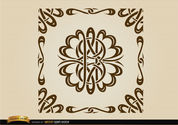 Curved lines ornamental borders