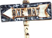 Grungy One Way Sign PSD