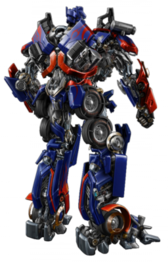 Transformers Optimus Prime Back PSD