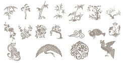 Classical Chinese auspicious pattern
