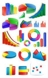 Icon vector material three-dimensional statistics