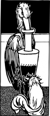 Stork Gets In Urn Fox Cannot