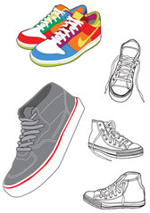 Sports Shoes And Canvas Shoes