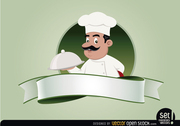 Restaurant Emblem with Chef