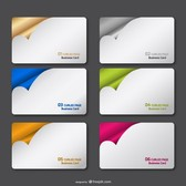 Curled page vector collection
