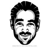 ACTOR COLIN FARRELL VECTOR PORTRAIT.eps
