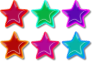 Colorful Stars PSD