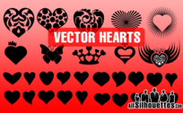 30 Vector Hearts Shapes