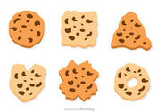 Chocolate Chip Cookie Vector Set