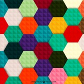 Colorful hexagon