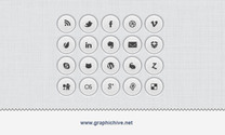 Rounded Button Social Media Icons (Psd)