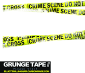 Yellow tape grunge brushed PSD