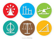 Circle Icons Playground Vector Pack
