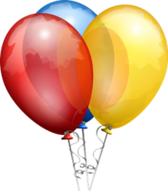 Birthday party balloons PSD