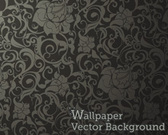 Seamless Wallpaper Muster schwarz